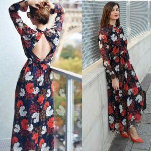 Zara Long Printed Dress